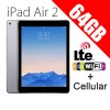 Apple iPad Air2 64GB 9.7inch Wifi+Cellular Tablet 4G LTE Grey