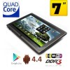 7inch Quad Core Android 4.4 Tablet PC 4GB WiFi Black- Support MicroSDHC Up to 32GB