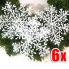6 X Nice White Shining Snowflake 6cm Diameter for Christmas Decoration