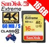 SanDisk Extreme 16GB SDHC UHS-I U3 4K Ultra HD Memory Card 60MB/s