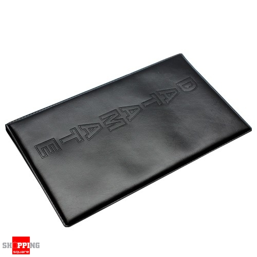 Black leather business name card holder book 120 cards ebay for Black leather business card holder