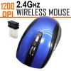 1200 DPI 2.4GHz Wirelss Optical Mouse Blue Colour for PC Mac