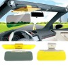2 in 1 Transparent Anti-glare Glass Car Sun Visor for Day & Night Driving
