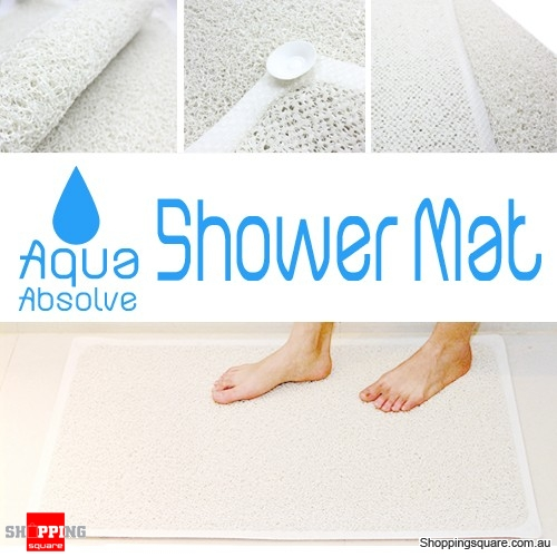 Anti Slip Loofah Bath Shower Mat Rug With Suction Cup