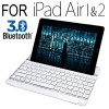 SmartBuddy Aluminum Bluetooth 3.0 Keyboard Case for iPad Air 1 & 2 White Key
