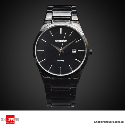 e40ee4a35ed CURREN Military Black Stainless Steel Date Analog Men Army Sports Quartz  Watch - Online Shopping   Shopping Square.COM.AU Online Bargain   Discount  Shopping ...