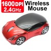 2.4GHz 1600DPI Optical Wireless Car-Shape Mouse Red Colour
