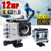 GoAction WiFi Full HD 1080P 12MP Waterproof Sports Action Camera Pro DV Silver Colour