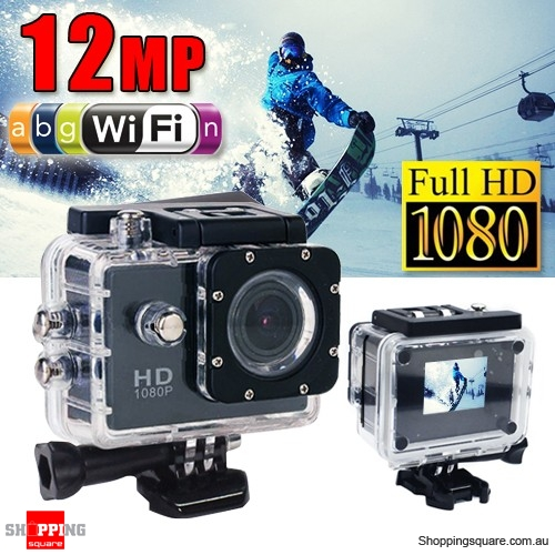 GoAction SJ4000 WiFi Full HD 1080P 12MP Waterproof Sports Action Camera Pro DV Black Colour