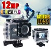 GoAction WiFi Full HD 1080P 12MP Waterproof Sports Action Camera Pro DV Black Colour