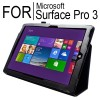 New Flip Leather Case Cover for Microsoft Surface Pro 3 Black Colour