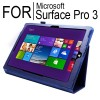 New Flip Leather Case Cover for Microsoft Surface Pro 3 Blue Colour