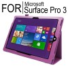 New Flip Leather Case Cover for Microsoft Surface Pro 3 Purple Colour