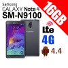 Samsung Galaxy Note 4 Dual Sim LTE 4G SM-N9100 16GB Smart Phone Black