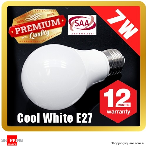 Premium LOYAL™ Super Bright 7W E27 Cool White LED Light Bulb Lamp 6500KHz 700LM SAA Approval
