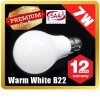 Premium LOYAL™ Super Bright 7W B22 Warm White LED Light Bulb Lamp 2700KHz 700LM