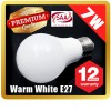 Premium LOYAL™ Super Bright 7W E27 Warm White LED Light Bulb Lamp 2700KHz 700LM SAA Approval