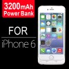 3200mAh Battery Power Bank Case Charger For iPhone 6 White Colour