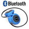 Mini Sport Bluetooth Wireless Stereo Headphone with Microphone Blue Colour