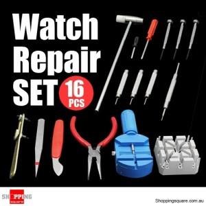 16 Pcs Watchmaker Watch Repair Tool Kit Set