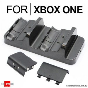 Dual Charging Dock with 2 Rechargeable Batteries for XBOX ONE Wireless Controller