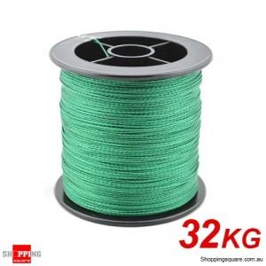 32Kg 1000M Braid Dyneema Spectra PE braided Fishing line Green Colour