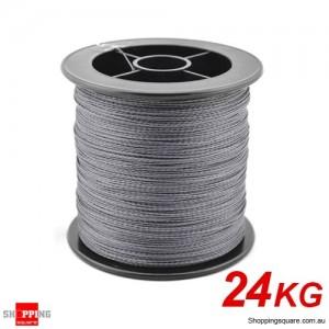 32Kg 1000M Braid Dyneema Spectra PE braided Fishing line Gray Colour