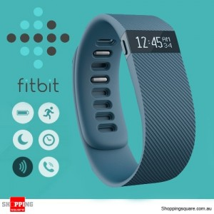 GENUINE Fitbit CHARGE Wireless Activity + Sleep Wristband Bluetooth Light Blue Small