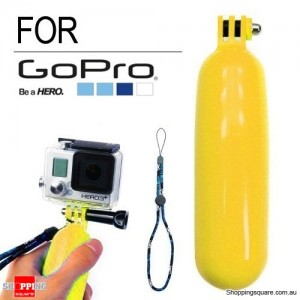 Floating Hand Grip Handle Mount Monopod for GoPro HERO 5/4/3+/3/2/1 Yellow Colour