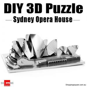 DIY 3D Metal Laser Cut Puzzle - Sydney Opera House