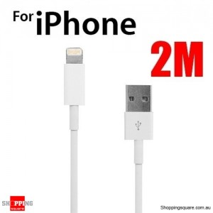 2M 8Pin Lightning USB Data Charger Cable for iPhone 6 6S 5SE 5S 5C 5 iPod Touch Nano 7 iPad 4 Mini