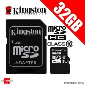 Kingston 32GB microSDHC microSDXC Class 10 UHS-I Card with Adapter (SDC10G2)