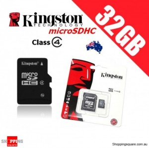 Kingston 32GB microSD Memory Card Class 4 with Adapter (SDC4)