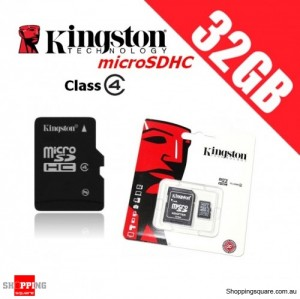 Kingston microSDHC 32GB Class 4 with Adapter Micro SD SDHC TF Memory Card