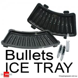 AK 47 Bullets ICE Tray Cubes Black Colour