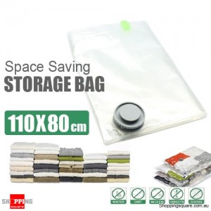 110 x 80 cm Space Saver Saving Storage Bag Vacuum Seal Compressed Organizer