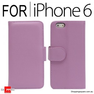 New Flip Leather Wallet Case Cover for iPhone 6S/6 Purple Colour