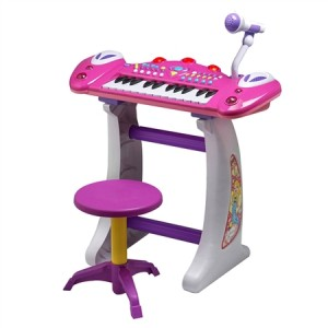 Children's Keyboard with Mic & Stool