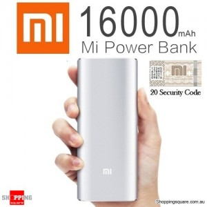 100% Genuine XIAOMI 16000mAh Portable Dual USB Power Bank Li-ion Battery Charger for iPad iPhone Samsung