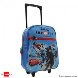Disney Kids Infinity Trolley Bag Extendable Carry Handle 2 Wheels Travel Case