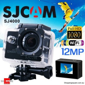 Genuine SJCAM SJ4000 WIFI Full HD 1080P 12MP Waterproof Sports Action Camera DVR BLACK