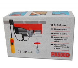Electric Rope Hoist 250 / 500KG Capacity