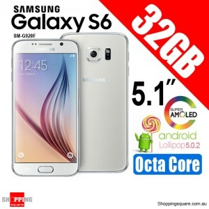 Samsung Galaxy S6 SM-G920F 32GB Smart Phone White