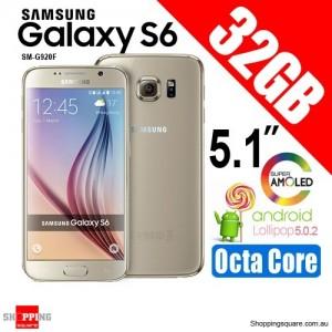 Samsung Galaxy S6 SM-G920F 32GB Smart Phone Gold