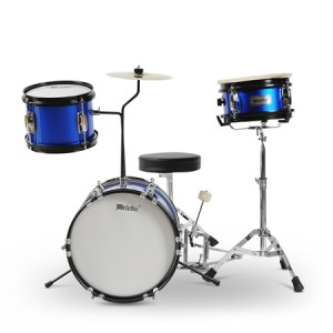3 Piece Junior Drum Set with Cymbals-Blue