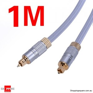 1M Ultra Premium OD6.0mm Toslink Optical Fibre Gold Plated Cable