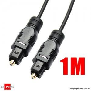 1M Black OD2.2mm Toslink Optical Fibre Cable