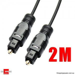 2M Black OD2.2mm Toslink Optical Fibre Cable