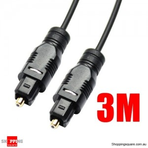 3M Black OD2.2mm Toslink Optical Fibre Cable