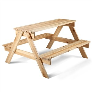 Kids Size Wooden Picnic Table